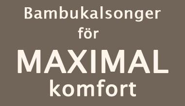 Bambukalsonger för maximal komfort